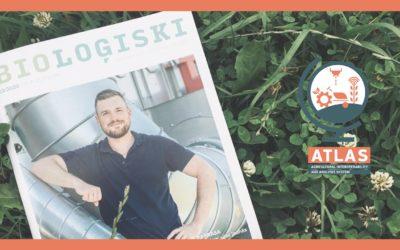 The Latvian magazine 'BIOLOĢISKI' presented an article on the ATLAS pilot farms