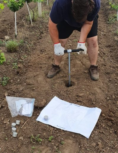 Soil sampling for moisture determination