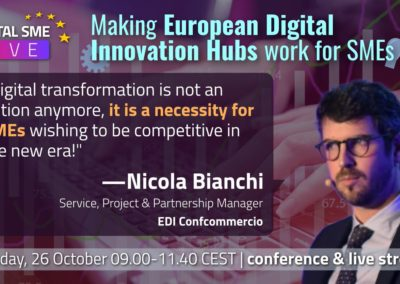 Mr. Nicola Bianchi, Service, Project and Partnership Manager, EDI DIH