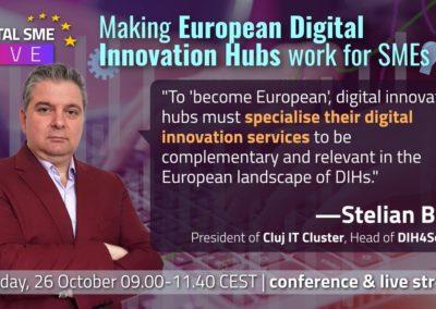Dr. Stelian Brad, DIH4Society Hub, Professor at Technical University of Cluj-Napoca