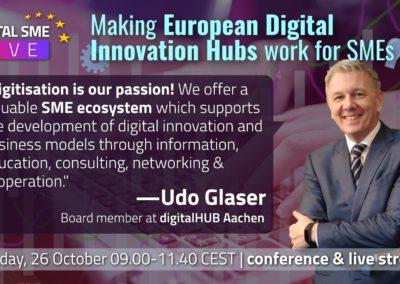 Mr. Udo Glaser, Member of the Management Board, digitalHUB Aachen