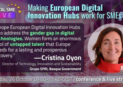 Ms. Cristina Oyón, Head of Strategic Initiatives, Basque Digital Innovation Hub