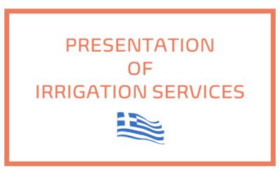 Presentation of irrigation services